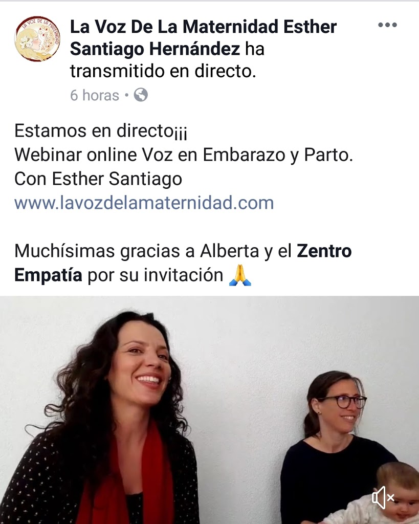 Webinar Gratuita Voz en Embarazo y Parto